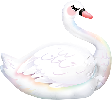 Graceful Swan Foil Shape 35in/88cm