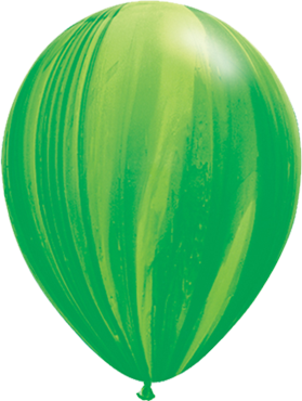 Green Rainbow SuperAgate Latex Round 11in/27.5cm