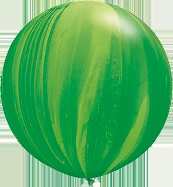 Green Rainbow SuperAgate Latex Round 30in/75cm