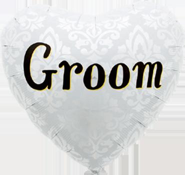 Groom Foil Heart 18in/45cm