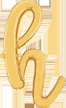 H Script Gold Foil Letter 24in/61cm