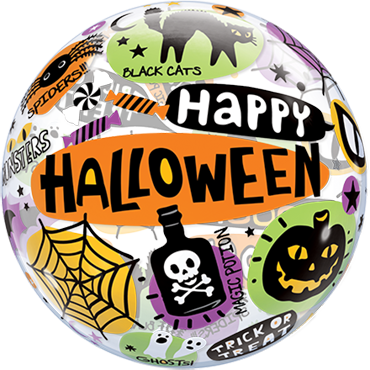 Halloween Messages and Icons Single Bubble 22in/55cm