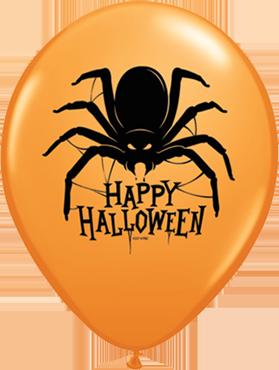 Halloween Spider Standard Orange Latex Round 11in/27.5cm