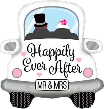 Happily Ever After Car Foil Shape 31in/79cm