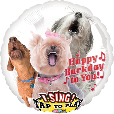 Happy Bark Day To You Sing A Tune Foil Round 28in/71cm