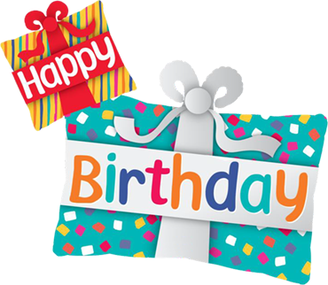Happy Birthday Presents Foil Shape 39in/99cm