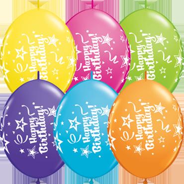 Happy Birthday Tropical Assortment QuickLink 12in/30cm