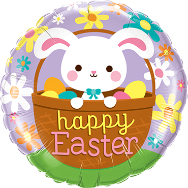 Happy Easter Bunny Foil Round 18in/45cm