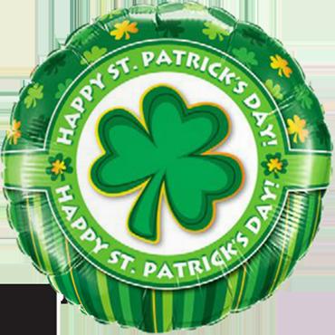 Happy St. Patrick's Day! Foil Round 18in/45cm