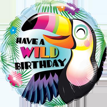 Have A Wild Birthday Foil Round 18in/45cm