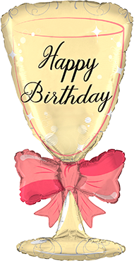 HB Glass with Ribbon Foil Shape  36in/90cm