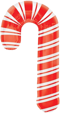 Holiday Candy Cane Foil Shape 20in/50cm x 37in/93cm
