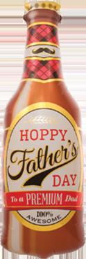 Hoppy Father's Day Foil Shape 36in/91cm