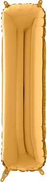I Gold Foil Letter 26in/66cm