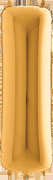I Gold Foil Letter 7in/18cm