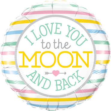 I Love You To The Moon Foil Round 18in/45cm