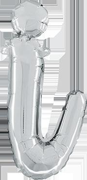 I Script Silver Foil Letter 14in/36cm