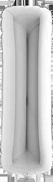 I Silver Foil Letter 7in/18cm