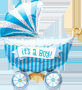 It's A Boy Buggy Foil Shape 14in/36cm