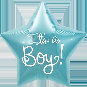 It's A Boy Foil Star 9in/22.5cm