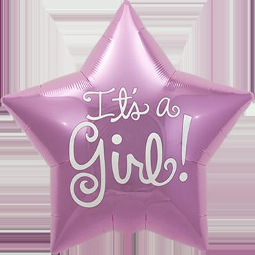 It's A Girl Foil Star 20in/50cm