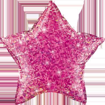 Jewel Magenta Holographic Foil Star 20in/50cm
