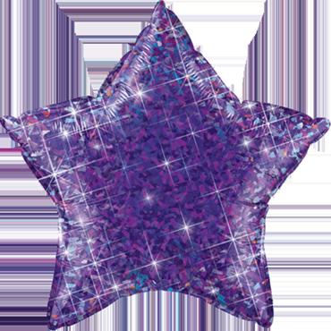 Jewel Purple Holographic Foil Star 20in/50cm