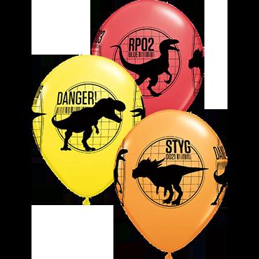 Jurassic World: Fallen Kingdom Standard Red, Standard Yellow and Standard Orange Assortment Latex Round 11in/27.5cm