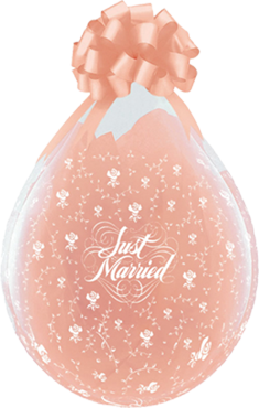 Just Married Crystal Diamond Clear (Transparent) Latex Round 18in/45cm
