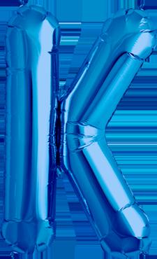 K Blue Foil Letter 34in/86cm