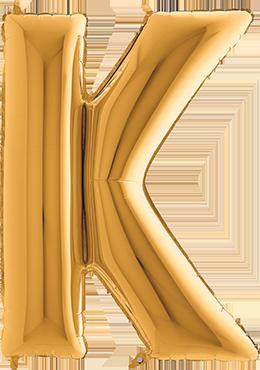 K Gold Foil Letter 7in/18cm