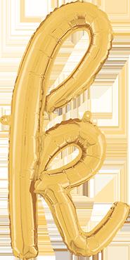 K Script Gold Foil Letter 24in/61cm