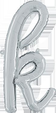K Script Silver Foil Letter 24in/61cm