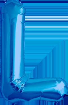 L Blue Foil Letter 16in/40cm