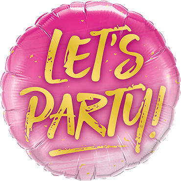 Lets Party! Foil Round 18in/45cm