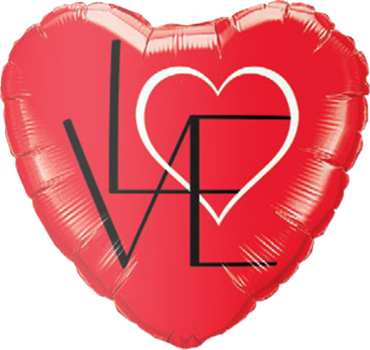L(Heart)VE Red Foil Heart 18in/45cm