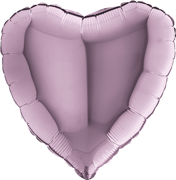 Lilac Foil Heart 18in/45cm