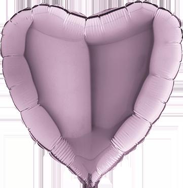 Lilac Foil Heart 36in/90cm