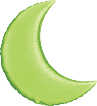 Lime Green Foil Moon 35in/87.5cm