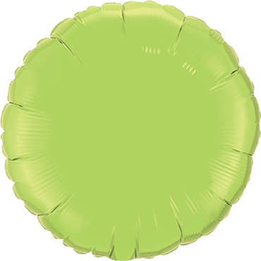 Lime Green Foil Round 4in/10cm