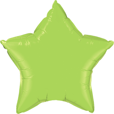 Lime Green Foil Star 4in/10cm