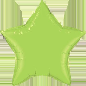 Lime Green Foil Star 4in/10cm