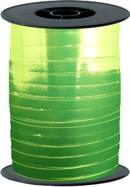 Lime Green Metallic Curling Ribbon 5mm x 250mm