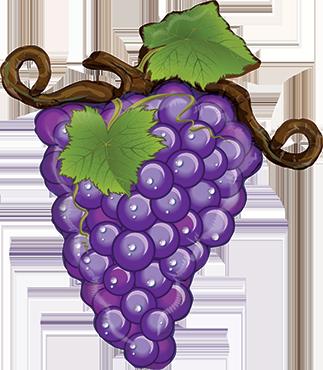 Linky Grapes Purple Foil Shape 31in/79cm