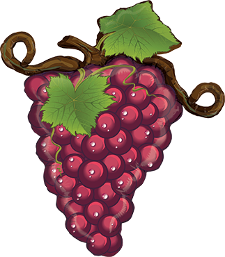 Linky Grapes Red Foil Shape 31in/79cm