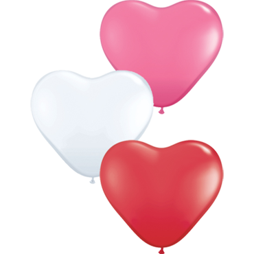 Love Assortment Latex Heart 6in/15cm