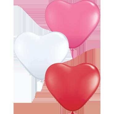 Love Assortment Latex Heart 6in/15cm