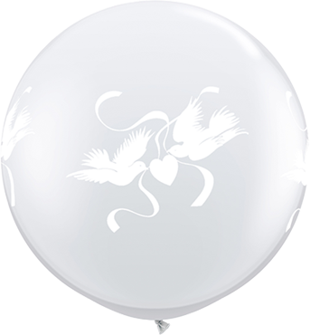 Love Doves Crystal Diamond Clear (Transparent) Latex Round 36in/90cm