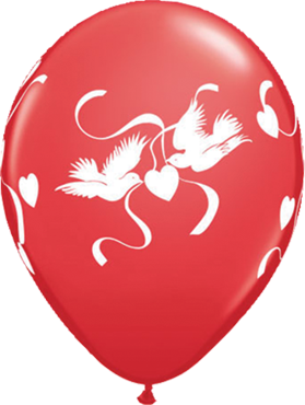 Love Doves Standard Red Latex Round 11in/27.5cm