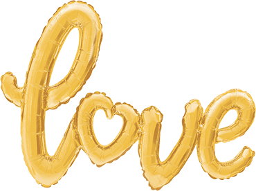 Love Script Gold 47in/119cm